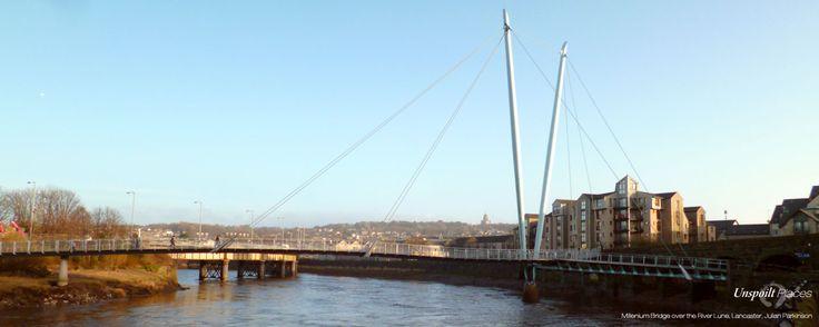The Millenium Bridge over the River Lune in Lancaster