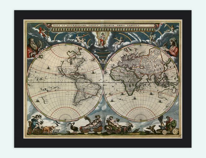 23 best old world maps images on pinterest antique maps old gallery direct fine art prints nova et accuratissima totius terrarum orbis tabula new and accurate map of the world 1664 by jan blaeu gumiabroncs Gallery