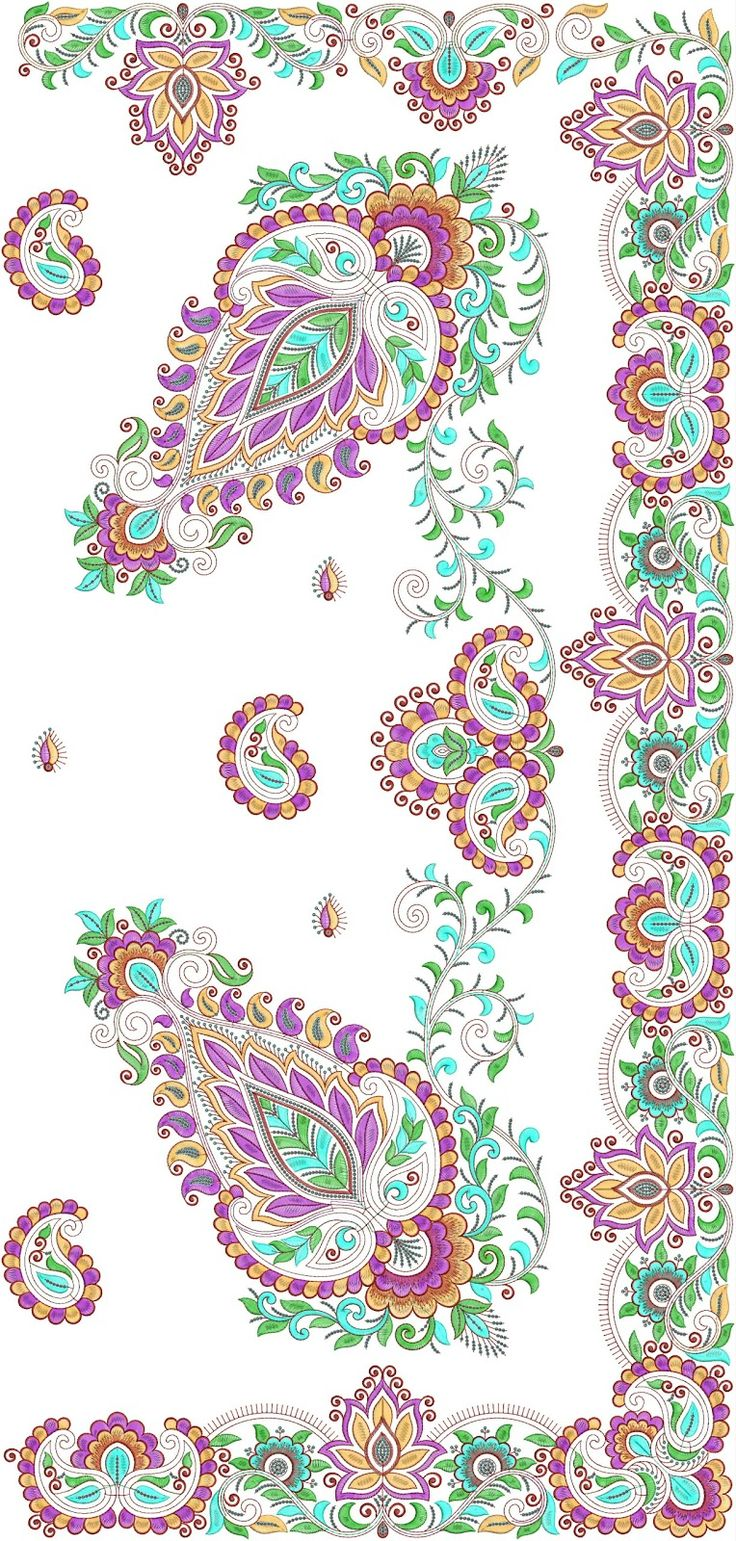 paisley formed Patched C-pallu.