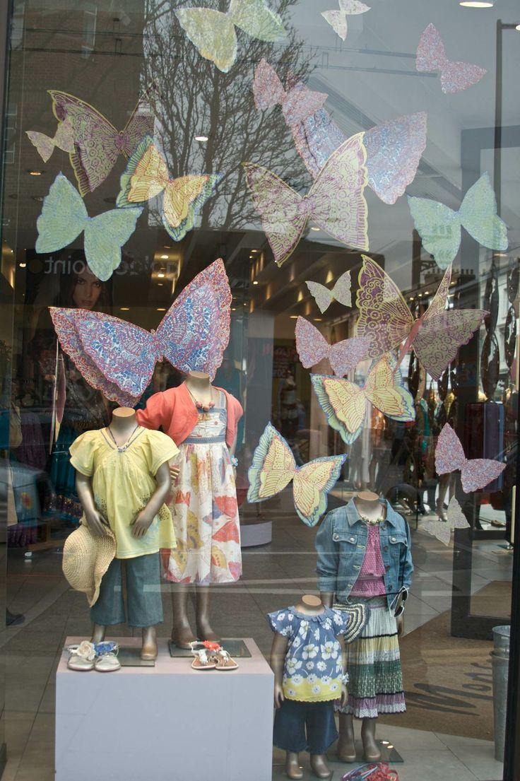 Monsoon - Kings Rd, London. Butterflies for girls in spring 2010 shop windows