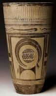 AUTORE: Ignoto NOME:Bicchiere di Susa; DATAZIONE: fine V millennio a.C.; MATERIALE E TECNICA: Pittura su ceramica; LUOGO DI CONSERVAZIONE: Musée du Louvre, Parigi.