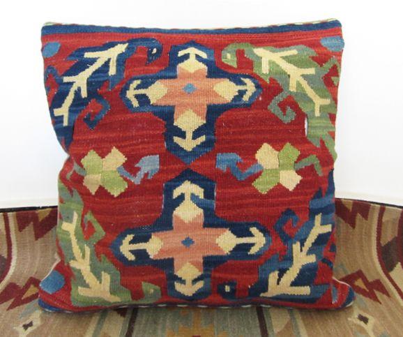 Kilim jilimu mão de lã almofada almofada lombar contar com estrangeiro não contém núcleo 40 x 40 cm alishoppbrasil