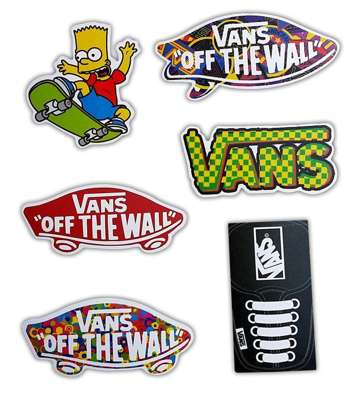 - Have fun with these Vans Off The Wall stickers on your Laptop, Stickerbomb, Vinyl, Vintage, Decal, Skateboard, Car, Bumper, Hoverboard, Snowboard, Helmet, Luggage, Scrapbooking, Party Favors... - St