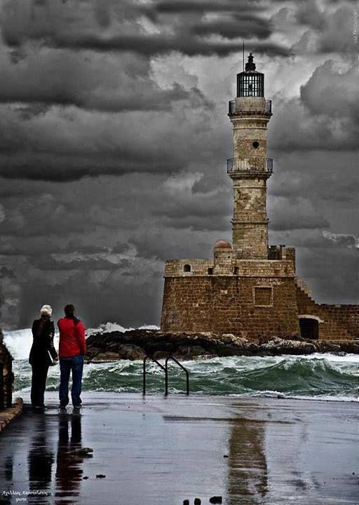 Windy day at Chania port ~ Crete