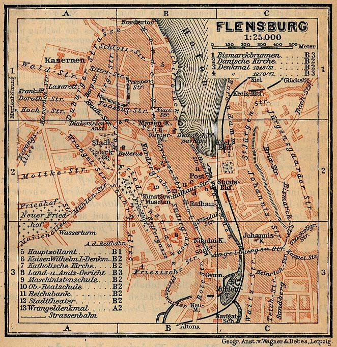 Map of Flensburg