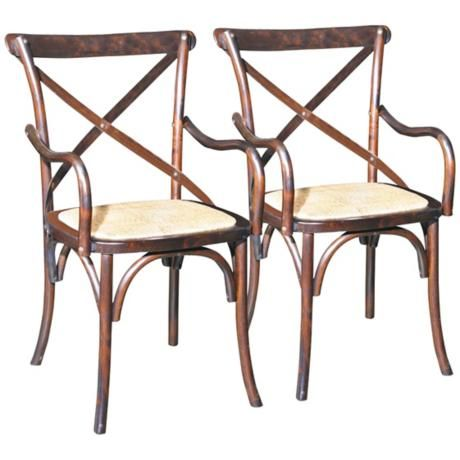Edward Brown Birch Bentwood Dining Chairs Set of 2 $280.