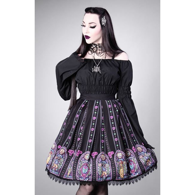 Restyle Beauty & The Beast Stained Glass Black Elegent Gothic Lolita Skirt in Clothes, Shoes & Accessories, Women's Clothing, Skirts | eBay