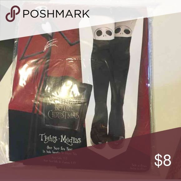 Jack skellington stockings 🎃🎃🎃 New in package , knee high stockings, Great for Halloween Accessories