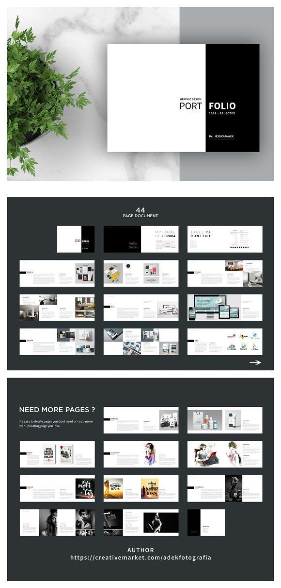 Graphic Design Portfolio Template By Adekfotografia On Creative Market Grap Portfolio Template Design Portfolio Design Layout Graphic Design Portfolio Layout