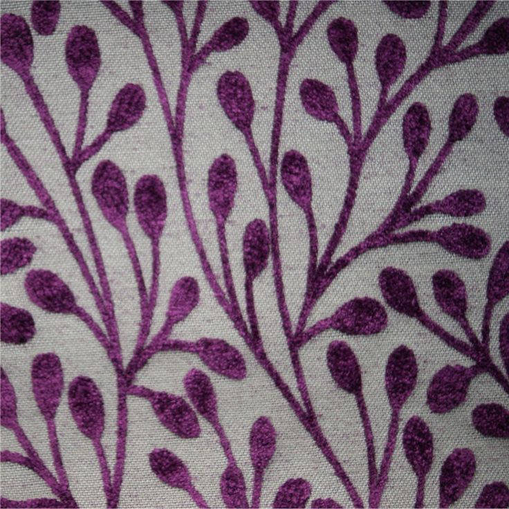 Patterned Purple Flat-Weave Curtain and Upholstery Fabric | Finley Plum Pattern from Loome Fabrics