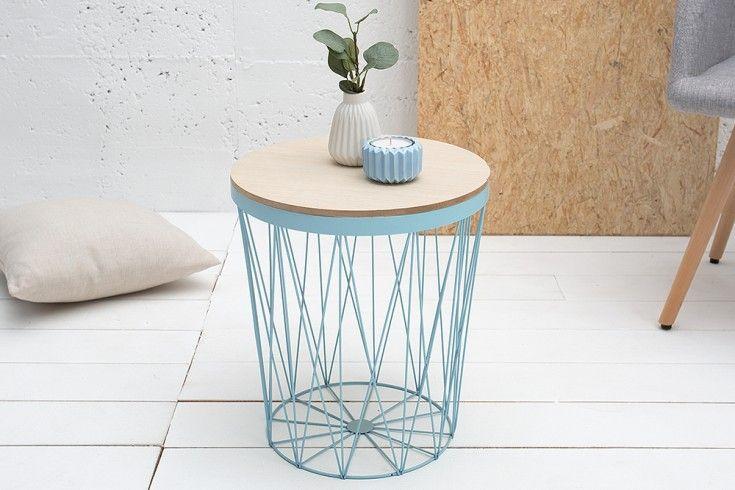 Design Beistelltisch Storage Ii 37cm Blau Eiche Aufbewahrungskorb Couchtisch Riess Ambiente De Beistelltisch Mit Stauraum Design Beistelltisch Und Couchtisch Modern