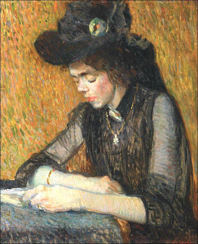 A Girl Reading (1913). Leo Gestel (Dutch, 1881-1941).