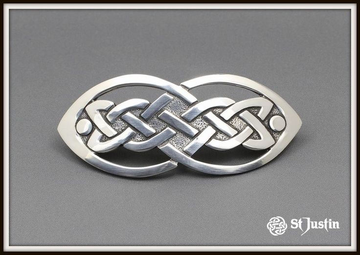 CELTIC OPEN KNOT HAIR SLIDE ~ PEWTER ~ FROM ST. JUSTIN ~ FREE P&P ~ UK MADE in Clothes, Shoes & Accessories, Women's Accessories, Hair Accessories | eBay