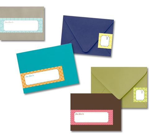 16 Best Envelope Wrap Labels Images On Pinterest | Address Labels