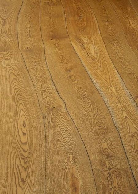 Beautiful biomorphic wood flooring for the for Unconventional flooring ideas