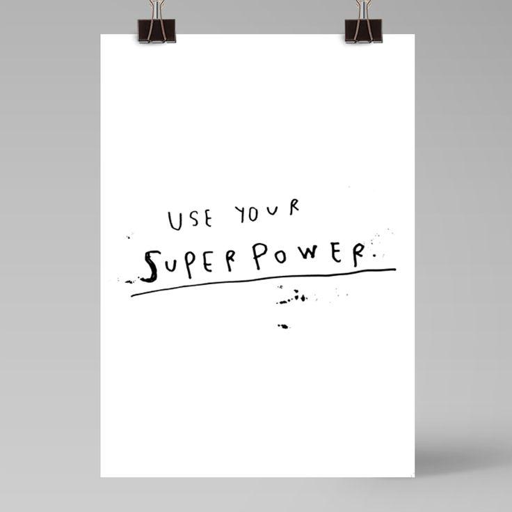 Superpower | poster A3 + A4