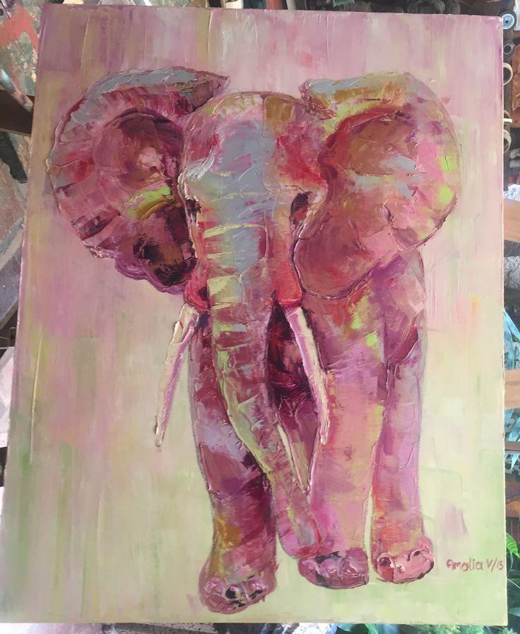 Óleo sobre lienzo. 70 cm x 80 cm. Por Amalia Vallejo
