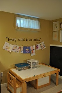 aww this is so cute! little kids love crafts so this is a cool idea for my future kids room.