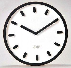 #Clock #JVD Plastikowy zegar ścienny  H81.1 - Jasněna Vláhová Design - czarny