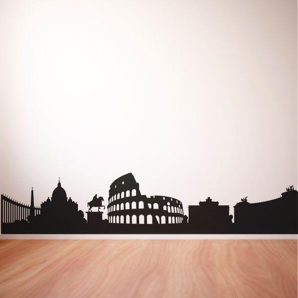 Vinilo skyline de la ciuda de Roma. Masquevinilo.com
