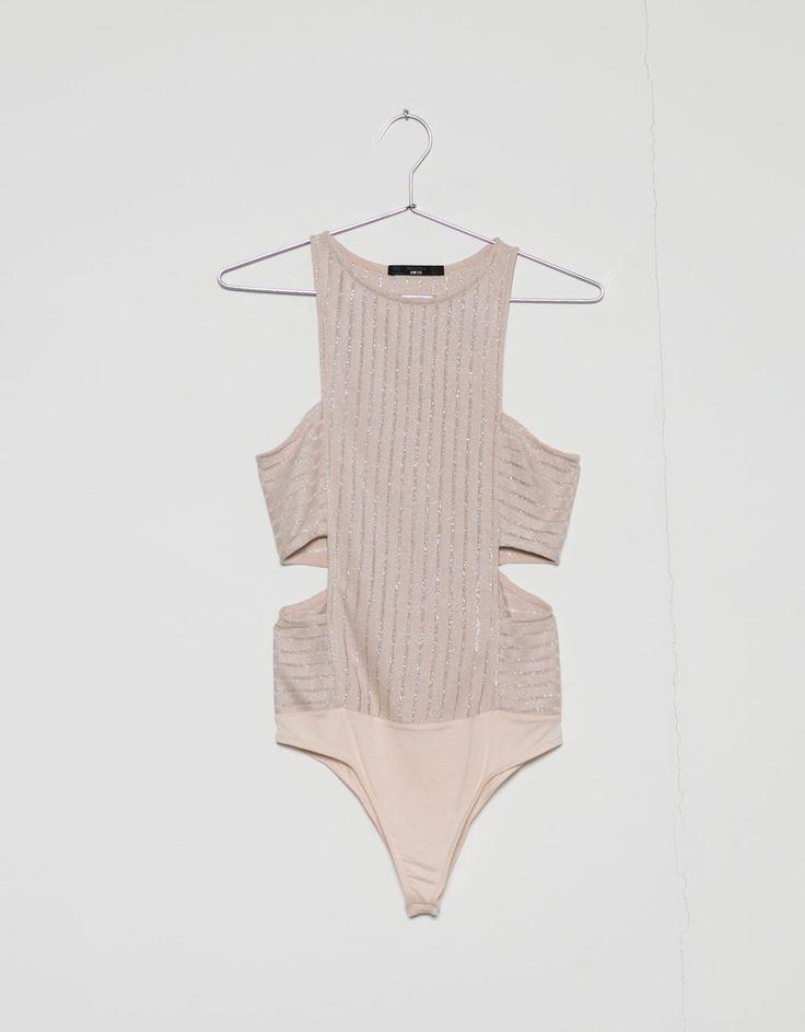 shiny waist cut bodysuit - Tops & Bodies - Bershka Latvia
