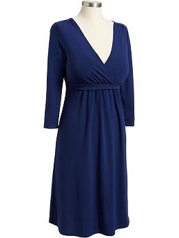 With leggings for this winter. Maternity Cross-Front Nursing Dresses | Old Navy