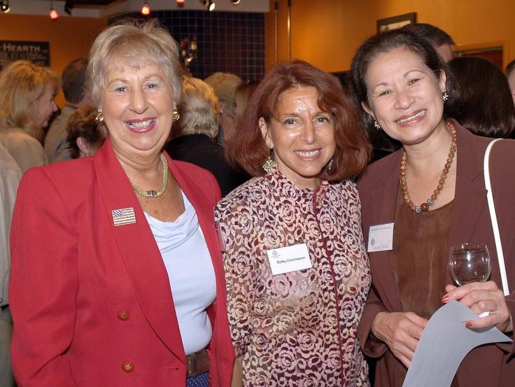 Attendee, Betty Greenspan & May Meng at the January 2006 Sarasota Sister Cities New Members orientation at Southgate Gourmet in Sarasota