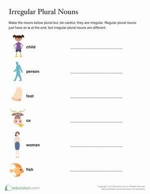 Can you write a list of irregular plural nouns just by reading the singular nouns?  It's a great way to practice dictionary and reference skills, too!