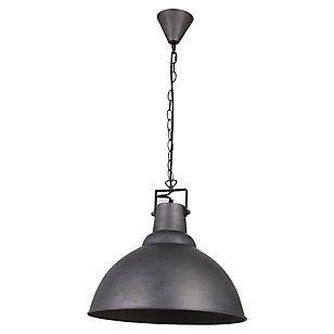 Home Collection Lámpara de Colgar IndustrialRedonda Gris 1 luz