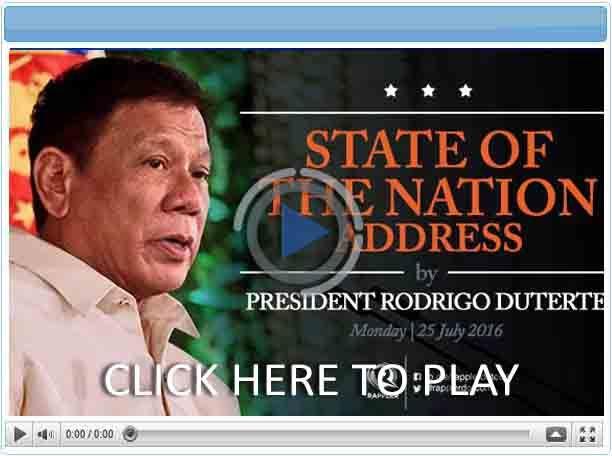 President Duterte's State of the Nation Address (SONA) 2016 - Pinoy Show Biz  Your Online Pinoy Showbiz Portal