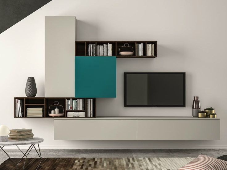 Mueble modular de pared composable SLIM 101 Colección Slim by Dall'Agnese | diseño Imago Design, Massimo Rosa