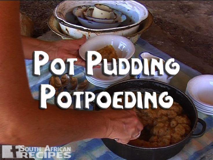 South African Recipes | POT PUDDING (POTPOEDING)