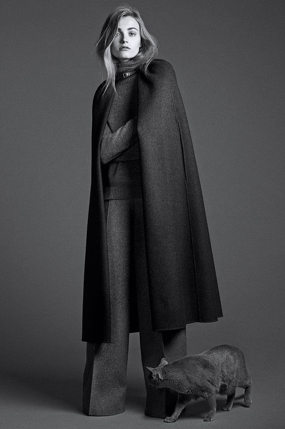 The Gray Lady: Fall's Oversize Layers and WoolensFrom cashmere sweaters to oversize coats, gray clothing is the color of the season. Photography by Lachlan Bailey for WSJ. Magazine, Styling by Alastair McKimm