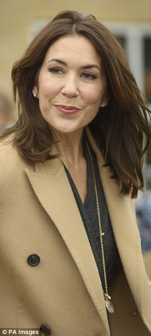 Princess Mary appeared effortlessly stunning in a chic but functional ensemble that suited...