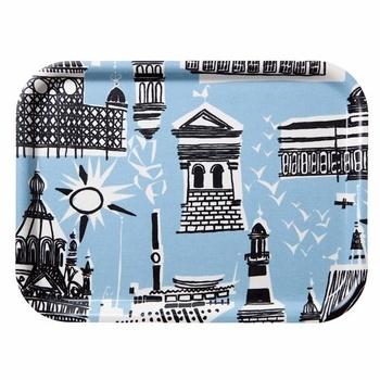 Marimekko Helsinki Blue Tray  #pintofinn
