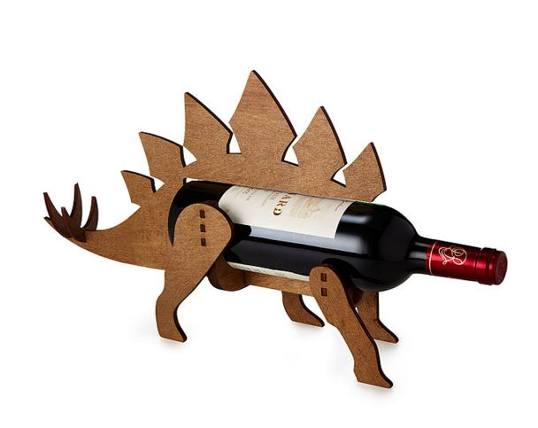 This Wine-O-Saur bottle holder that's perfect for the playful couple.