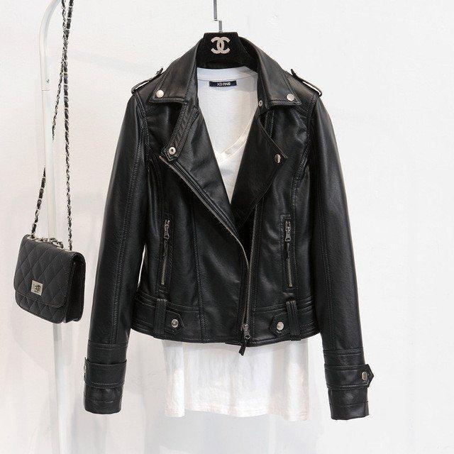 Best 25  Black faux leather jacket ideas on Pinterest | Black ...