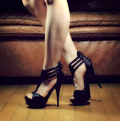 new styles afed2 046f4 Black Sexy Blink Pump Prom Platform Strappy Women Heel Sandals Shoes Sz 7    eBay