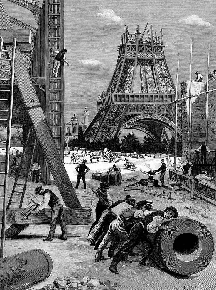 Visite au chantier de la Tour Eiffel