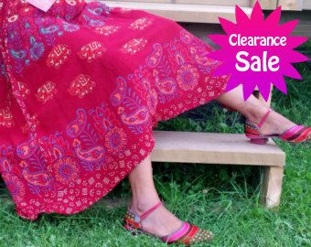 Exclusive 100% Soft Rayon  Boho Maroon Wrap skirt (Shipped from Canada)