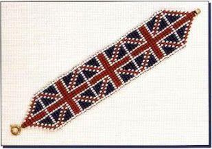 Флаг Великобритании (Union Jack) | biser.info - всё о бисере и бисерном творчестве