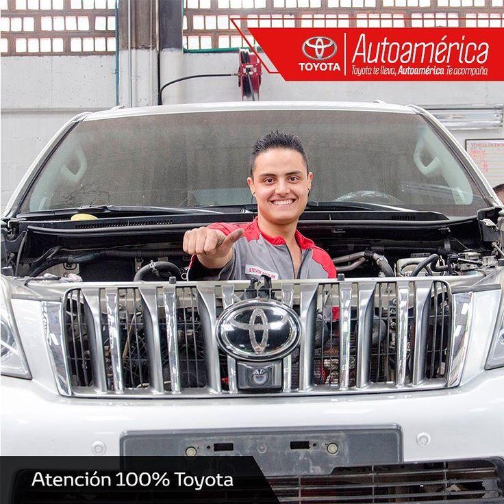 Nos comprometemos 100% con el cuidado y mantenimiento de tu #Toyota. Aprovecha todos nuestros servicios y disfruta una experiencia memorable en nuestros talleres de mecánica general en #Autoamérica Industriales y Apartadó. https://goo.gl/MvyToA
