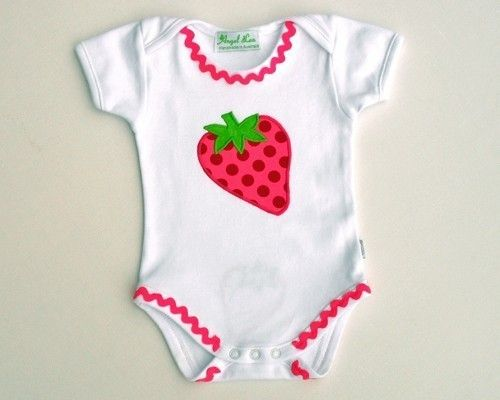 Love the ric rack and the strawberry applique