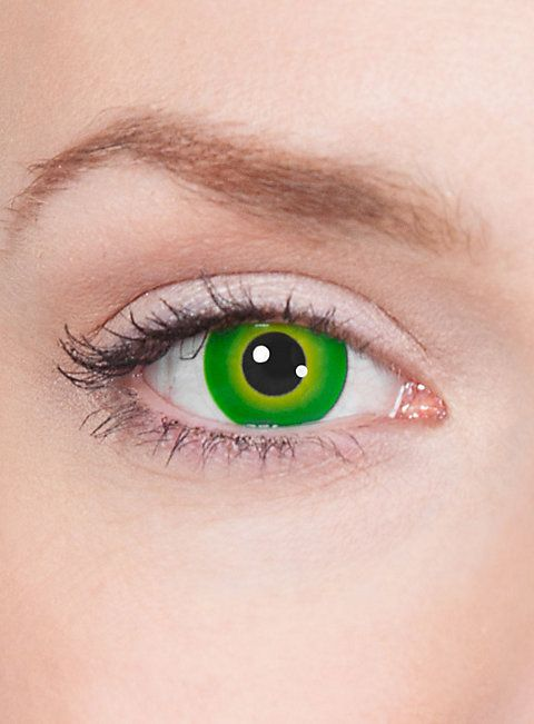 Grüne Kontaktlinsen - Motiv Grüner Mutant  #contactlenses #cosplay  #halloween #sfx #larp #green