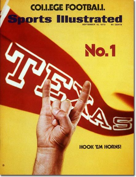 Sports Illustrated cover, 1972. #Texas #Longhorns #Football #HookEm