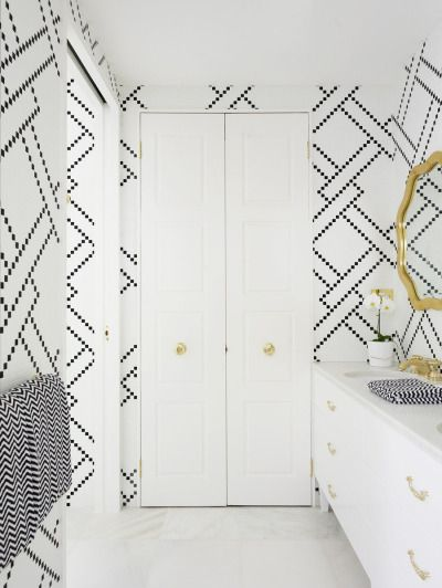 Modern nautical knots: http://www.stylemepretty.com/living/2015/05/12/a-statement-powder-room-17-wallpapers-that-wow/
