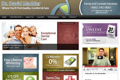 I recently built a website for Dr. David Madder. He is a dentist down in Gilbert Arizona. #WebDesign