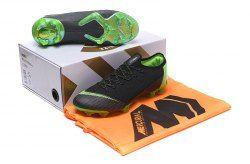 779f71220f62 Ventilation Nike Mercurial Superfly VI Flyknit 360 Elite FG Black Green Men's  Firm-Ground Soccer Shoes