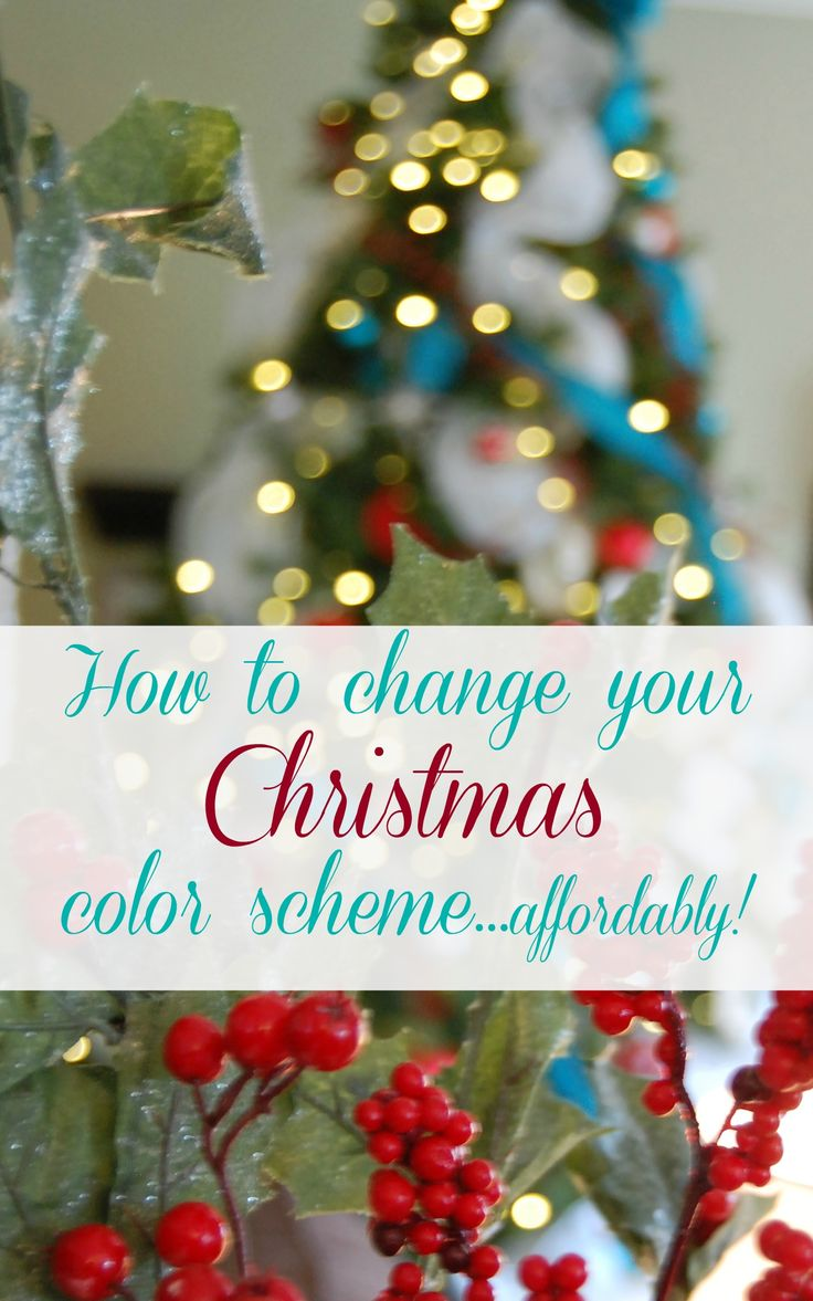 Christmas tree decorating ideas how to change your color for Christmas tree color schemes
