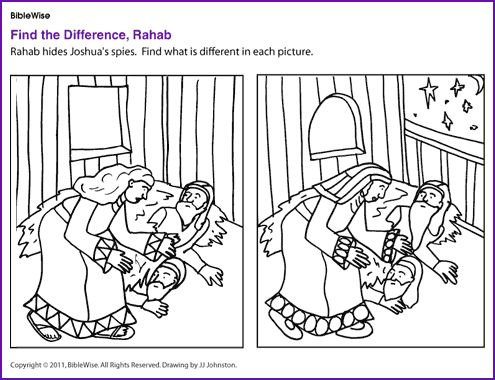 find the difference rahab bible toolsbible activitiesclass